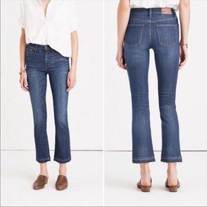 Madewell Cali Demi Boot Raw Hem Crop Jeans